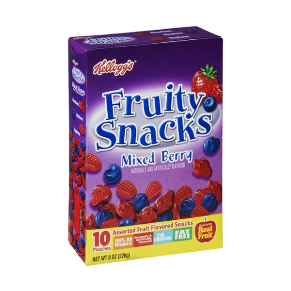 Kellogg's Fruity Snacks Mixed Berry Assorted Fruit Flavored Snacks - 10 CT