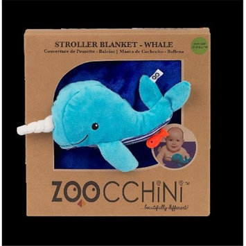 Zoocchini 14005 Baby Buddy Blanket with Whale Blue