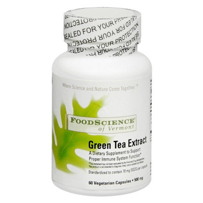 FoodScience of Vermont Green Tea Extract 500 mg Capsules