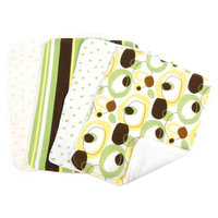 Trend Lab 8 Pc. Bib and Burp Cloth Set - Giggles by Lab