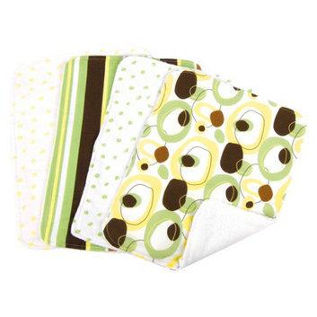 Trend Lab 8 Pc. Bib and Burp Cloth Set - Giggles by Lab