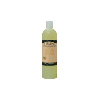 Plantlife Hand & Body Foam Soap Vanilla Orange 16oz Refill