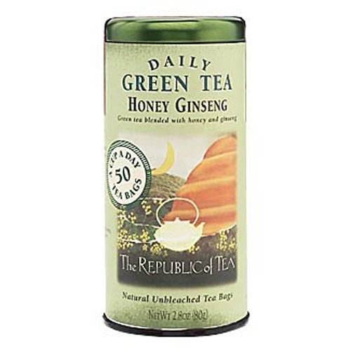 The Republic of Tea, Honey Ginseng Green Tea, 50-Count