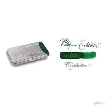 Pk/6 Pelikan Edelstein Fountain Pen Ink Cartridges, Aventurine Green