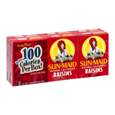 Sun-Maid Natural California Raisins - 6 CT