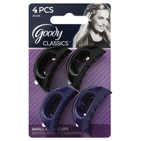 Goody Products Inc. Classic Small Curved Claw Clips, 4 CT