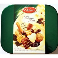 Delacre Tea Time Exquisite European Biscuit Assortment Tin Box Net Weight 35.3 OZ (1 kg)