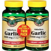 Spring Valley Herbal Supplement Odorless Garlic