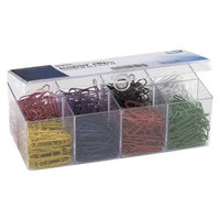 Officemate Plastic Coated Paper Clips, No. 2 Size - Assorted Colors