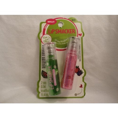 Bonne Bell Lip Smacker Rolly Duos, Watermelon and Berry Strawberry, 2 ct.