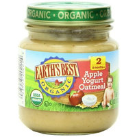 Earth's Best Organic Baby Food, Apple Yogurt Oatmeal, 4.5 Ounce (Pack of 12)