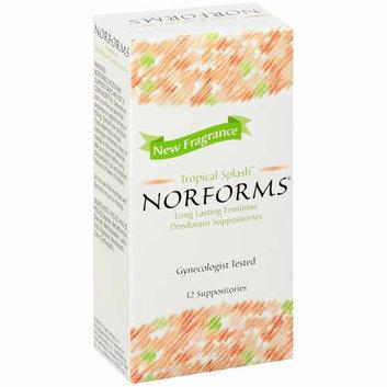 Norforms Tropical Splash Feminine Deodorant Suppositories