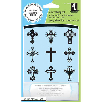 Inkadinkado INCH-30899 Inkadinkado Inchie Clear Stamps -Crosses
