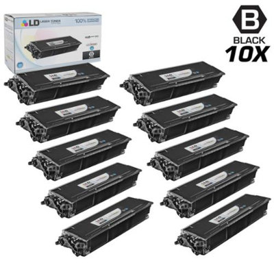 LD Compatible Brother TN580 Set of 10 High Yield Black Laser Toner Cartridges