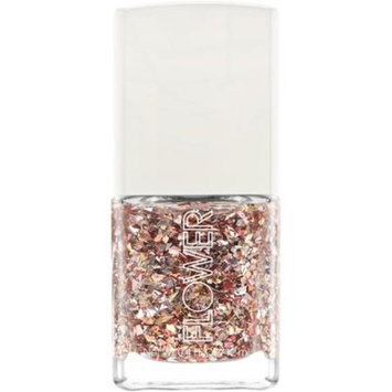 FLOWER Beauty Nail'd It Nail Lacquer Liquid Metal Top Coat, Rose Gold, 0.4 fl oz