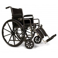 Everest Jennings Traveler SE Steel Wheelchair Fixed Full Arms Elevating Legrest 16