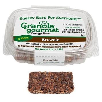 Granola Gourmet Original Energy Bars - Brownie, 4-Count 5 oz. Bars (Pack of 4)