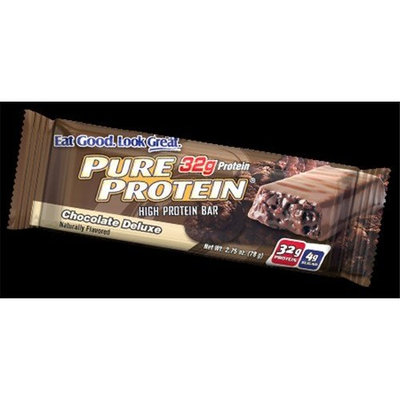 Worldwide Sport Nutrition Pure Protein Bar Chocolate Deluxe 2.75 Ounces (12 Bars)