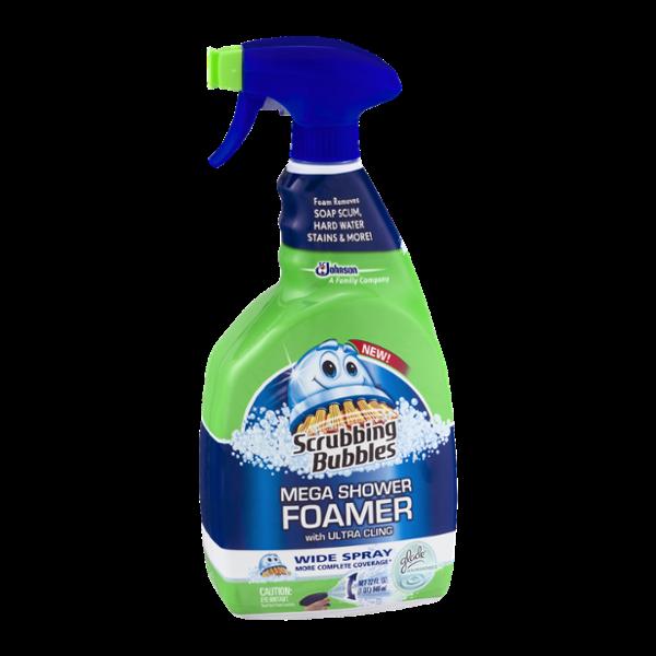 Scrubbing Bubbles Mega Shower Foamer Glade Rainshower