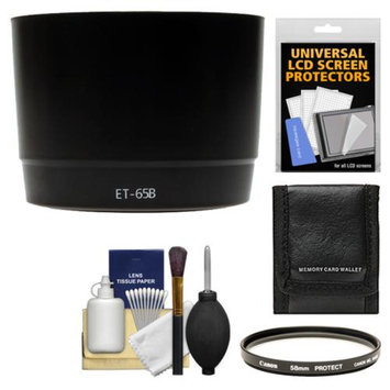 Precision Design ET-65B Hard Lens Hood & Canon 58mm Filter + Accessory Kit for Canon EF 70-300mm f/4-5.6 IS USM & DO IS USM Lens