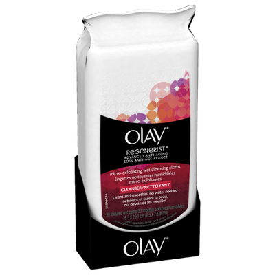 Olay Regenerist Micro-Exfoliating Wet Cleansing Cloths 30 Count