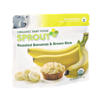 Sprout Roasted Bananas & Brown Rice Organic Baby Food
