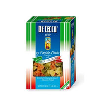 De Cecco Tri-Color Farfalle, 16-Ounce Boxes (Pack of 5)