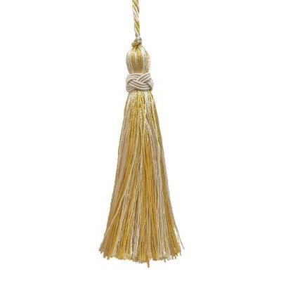 DecoPro Tiebacks Tassels Set of 10 Decorative Light Gold, Ivory 4
