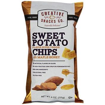 Creative Snacks Flavor Super Veggie Chips with Maple Honey, Sweet Potato, 4.0 Ounce