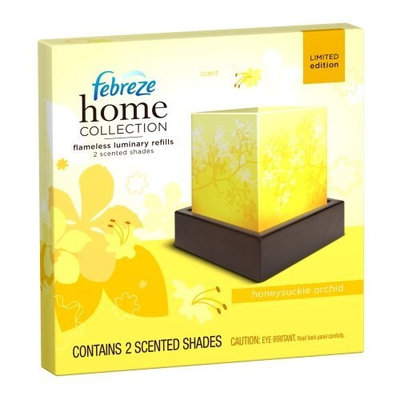Febreze Home Collection Honeysuckle Orchid Flameless Luminary Refill, 2-Count (Pack of 2)