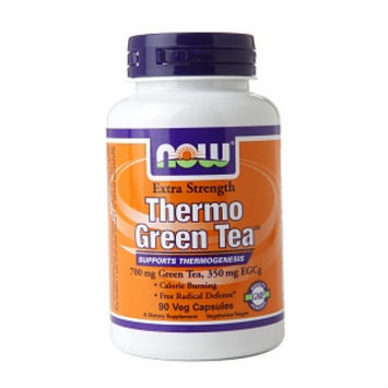 NOW Foods Extra Strength Thermo Green Tea 700mg, Veggie Capsules, 90 ea