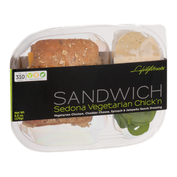 Lifestyle Foods Sandwich Sedona Vegetarian Chick'n