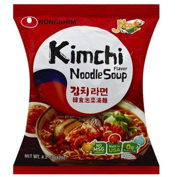 Nong Shim Nongshim Kimchi Flavor Noodle Soup Mix, 4.2 oz, (Pack of 16)