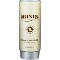 Monin Flavored Sauce, White Chocolate, 12-Ounce Bottles (Pack of 6)