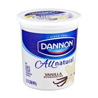 Dannon All Natural Vanilla Flavor Lowfat Yogurt