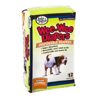 Four Paws Wee-Wee Diapers Disposable Diapers Small - 12 CT