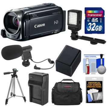 Canon Vixia HF R50 8GB 1080p HD Wi-Fi Digital Video Camcorder with 32GB Card + Battery & Charger + Case + LED Light + Mic + Tripod + Kit