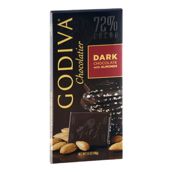 Godiva Chocolatier Dark Chocolate with Almonds