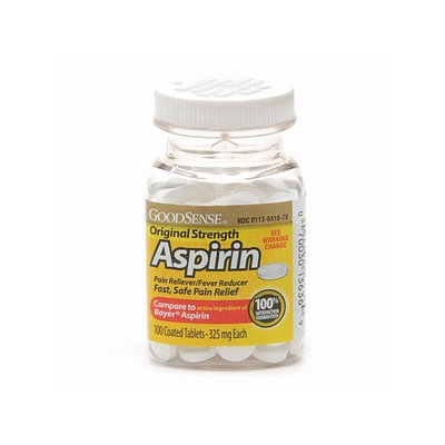 Good Sense Original Strength Aspirin Tablets 325mg 100's