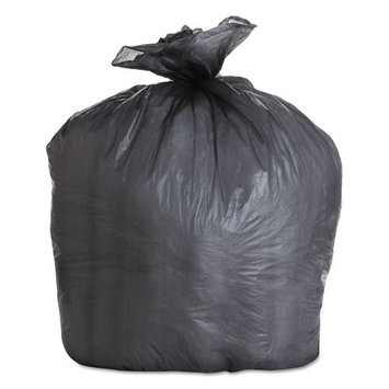 Boardwalk Commercial Can Liners High Density Black Trash Bags, 22