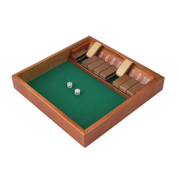 Trademark Poker Shut the Box (1-10) Zero Out Game 1 10, Ages 10+, 1 ea