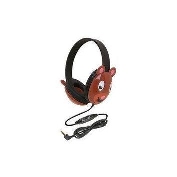 Califone International Califone 2810-PA Listening First Stereo Headphone, Bear Motif - Pack of 2