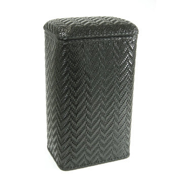 Redmon Elegante Ensemble Apartment Hamper Black