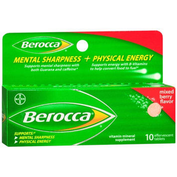 Berocca Mental Sharpness + Physical Energy Effervescent Tablets Berry