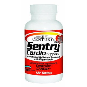 21st Century Sentry Cardio Support Tablets, 120-Count