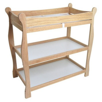 Badger Basket Natural Finish Sleigh Style Changing Table