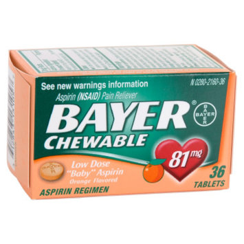 Bayer Chewable Orange Baby Aspirin - 36 ct