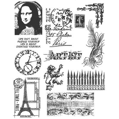 Stampers Anonymous Tim Holtz Large Cling Rubber Stamp Set - Mini Classics