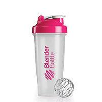 Sundesa BlenderBottle Classic Shaker Bottle, 28-ounce, Clear/Pink