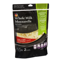 Ahold Whole Milk Mozzarella Traditionally Shredded